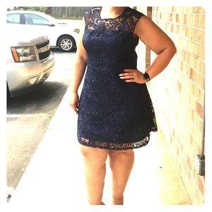 INC Lace Skater Dress